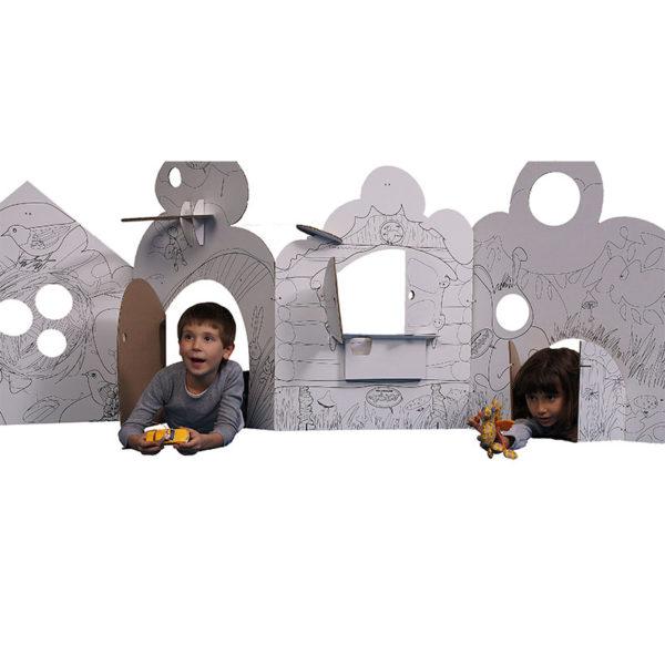 Домик-раскраска из картона «Фэнтези»