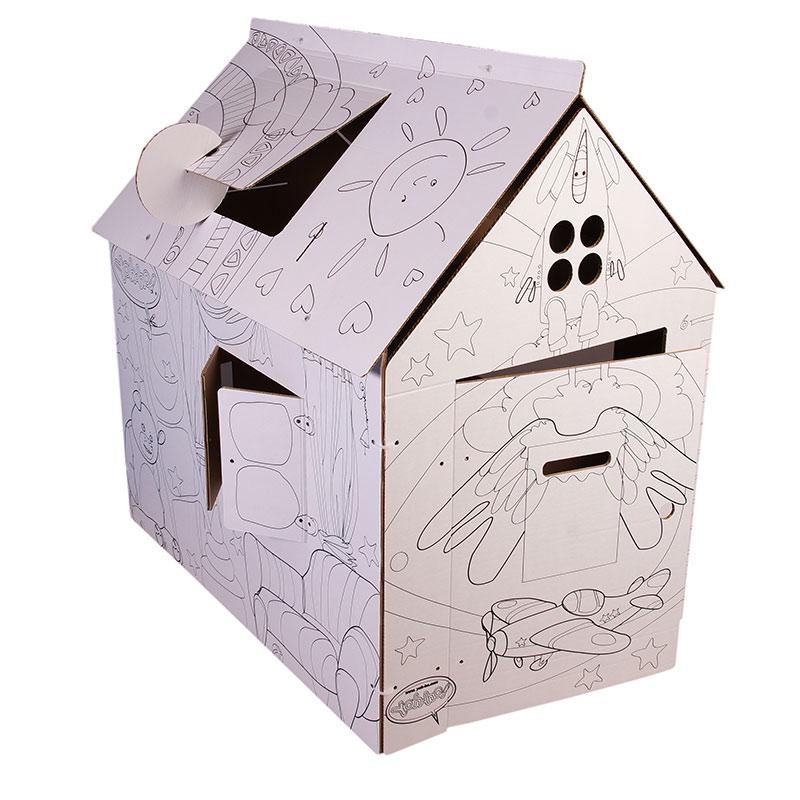Домик-раскраска из картона «Классика»